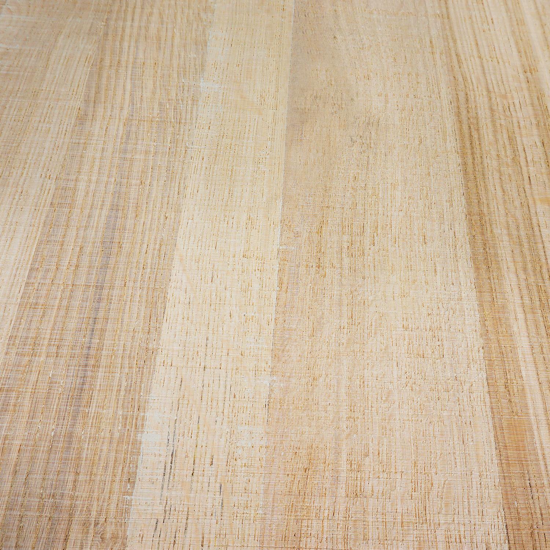 Eiken blad / paneel op maat - 3 cm dik (1-laag) - Foutvrij eikenhout - Fijnbezaagd (ruw) - verlijmd kd 8-12% - 15-120x20-350 cm
