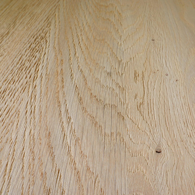 Eiken blad / paneel op maat - 4 cm dik (2-laags) - rustiek Europees eikenhout - gezandstraald - verlijmd kd 8-12% - 15-120x20-350 cm