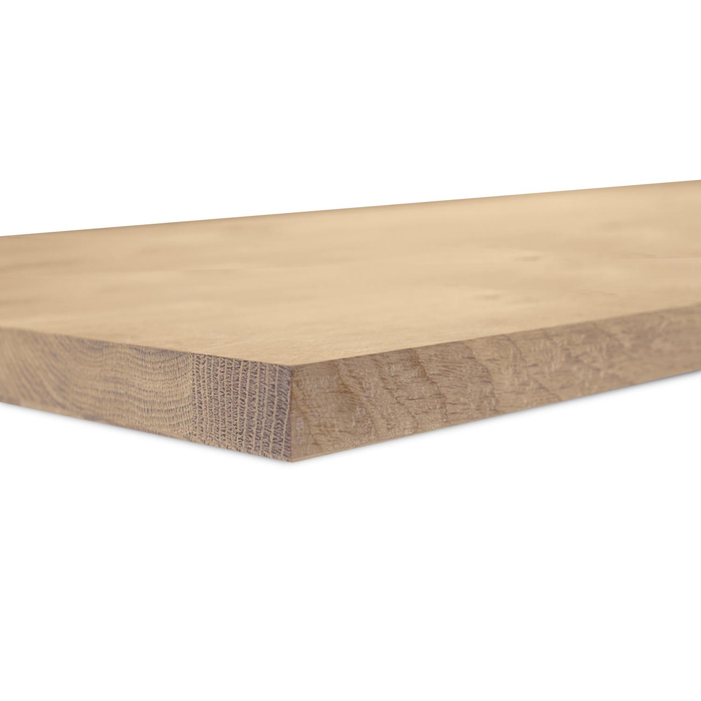 Eiken blad / meubelblad op maat - 3 cm dik (1-laag) - rustiek eikenhout - Gezandstraald- verlijmd kd 8-12% - 15-120x20-350 cm