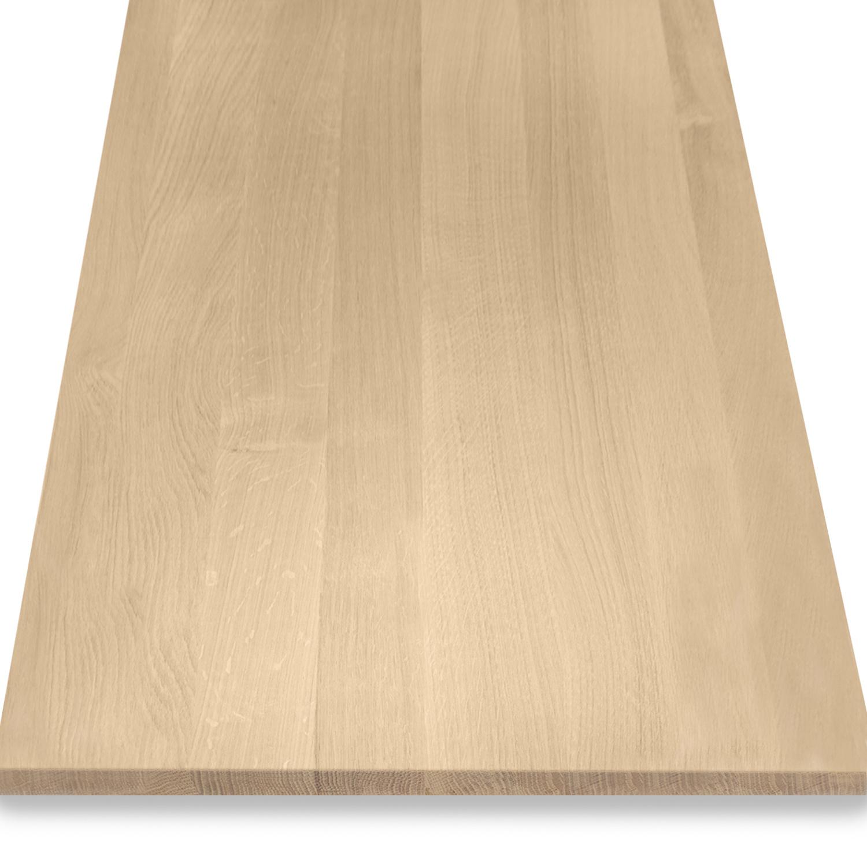 Eiken blad / paneel op maat - 2 cm dik (1-laag) - Foutvrij eikenhout - Gezandstraald - verlijmd kd 8-12% - 15-120x20-350 cm