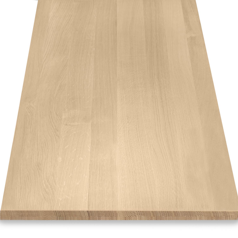 Eiken blad / paneel op maat - 3 cm dik (1-laag) - Foutvrij eikenhout - Gezandstraald - verlijmd kd 8-12% - 15-120x20-350 cm