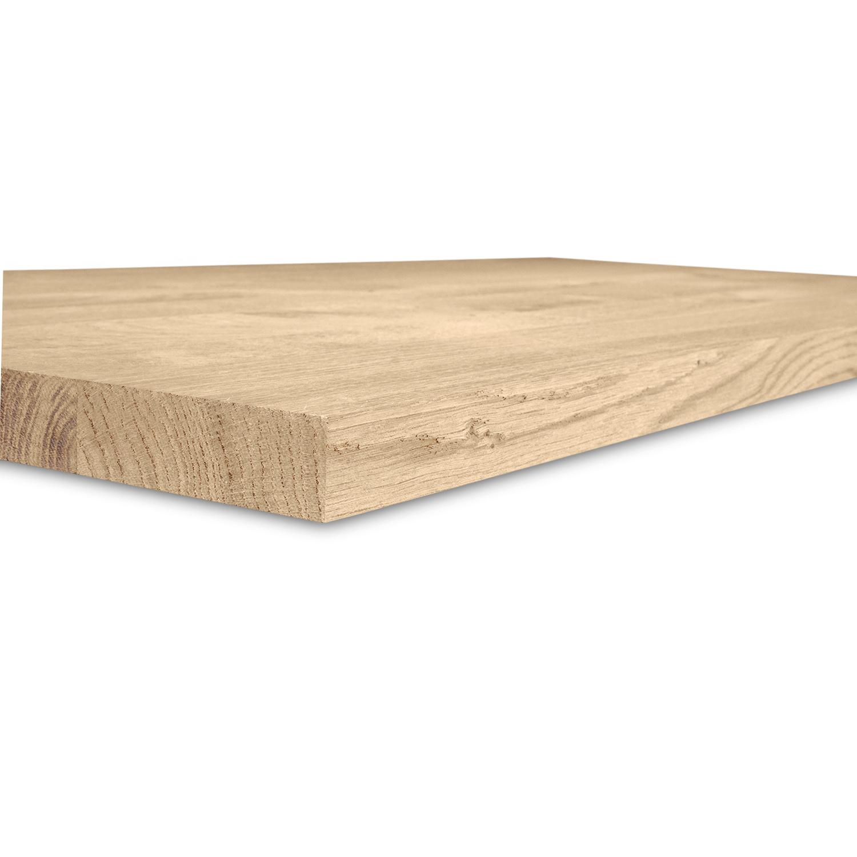 Eiken blad / meubelblad op maat - 4 cm dik (1-laag) - rustiek Europees eikenhout GEBORSTELD - verlijmd kd 8-12% - 15-120x20-350 cm