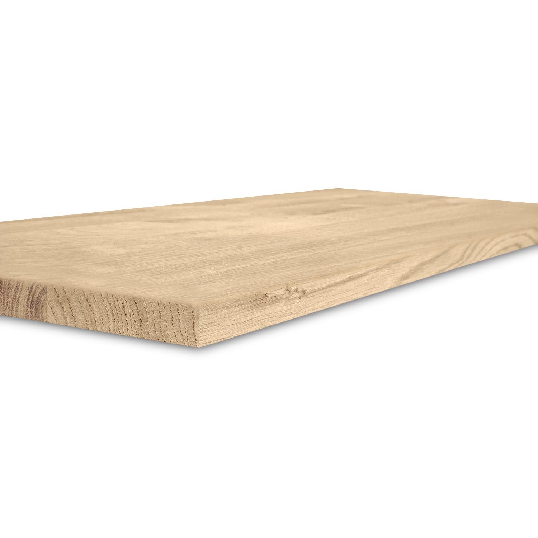 Eiken blad / paneel op maat - 2 cm dik (1-laag) - rustiek Europees eikenhout - verlijmd kd 8-12% - 15-120x20-350 cm