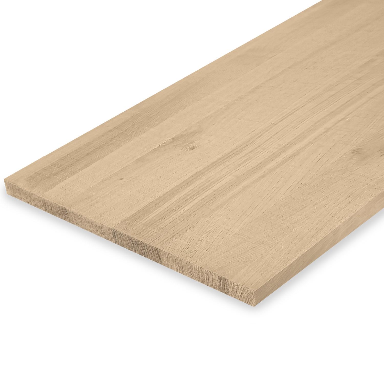 Eiken blad / meubelblad op maat - 2 cm dik (1-laag) - rustiek eikenhout - Fijnbezaagd (ruw) - verlijmd kd 8-12% - 15-120x20-350 cm