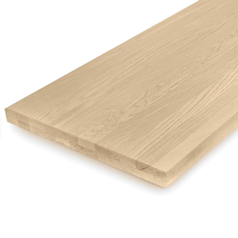 Eiken blad / paneel op maat - 4 cm dik (2-laags) - Foutvrij eikenhout - Gezandstraald - verlijmd kd 8-12% - 15-120x20-350 cm