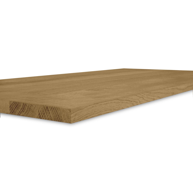 Eiken blad / paneel op maat - 2 cm dik (1-laag) - Foutvrij Europees eikenhout GEBORSTELD & GEROOKT- verlijmd kd 8-12% - 15-120x20-350 cm