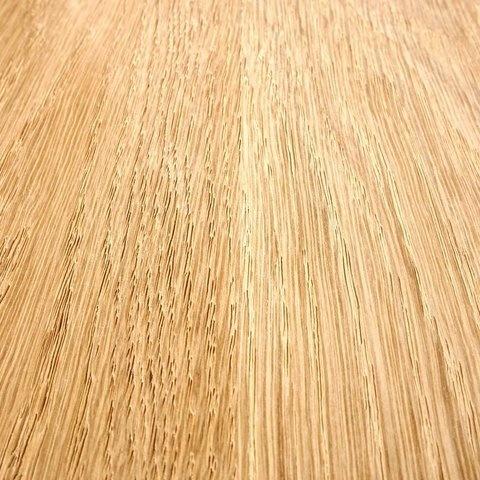 Eiken tafelblad met ronde hoeken - op maat - 3 cm dik (1-laag) - foutvrij Europees eikenhout - GEBORSTELD - verlijmd kd 8-12% - 50-120x50-300 cm - Afgeronde hoeken radius 5, 8, of 10 cm