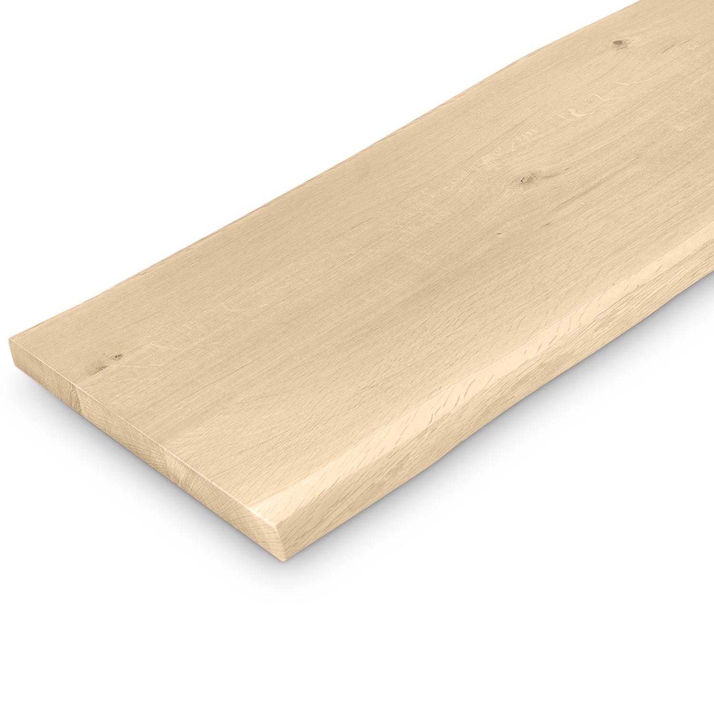 Eiken boomstam(rand) bankblad - 40x160-300- 4 cm dik (massief) - extra rustiek Europees eikenhout - met schorsrand / waankant - verlijmd kd 10-12% - blad voor (eetkamertafel)bankje