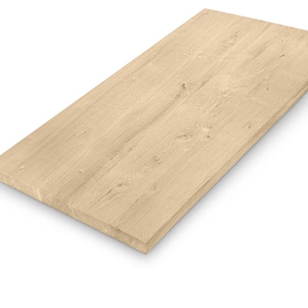 Eiken tafelblad - 4 cm dik (massief) - extra rustiek eikenhout