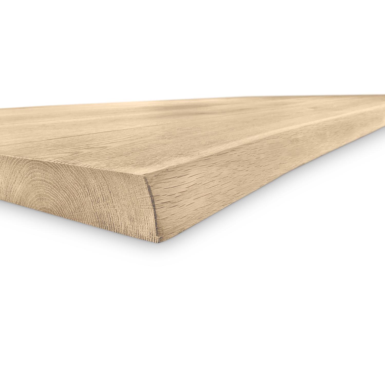 Eiken boomstam(rand) tafelblad - 4,5 cm dik (1-laag) - Diverse afmetingen - (extra) rustiek Europees eikenhout - GEBORSTELD + (optioneel) V-GROEVEN met schorsrand / waankant - verlijmd kd 10-12%