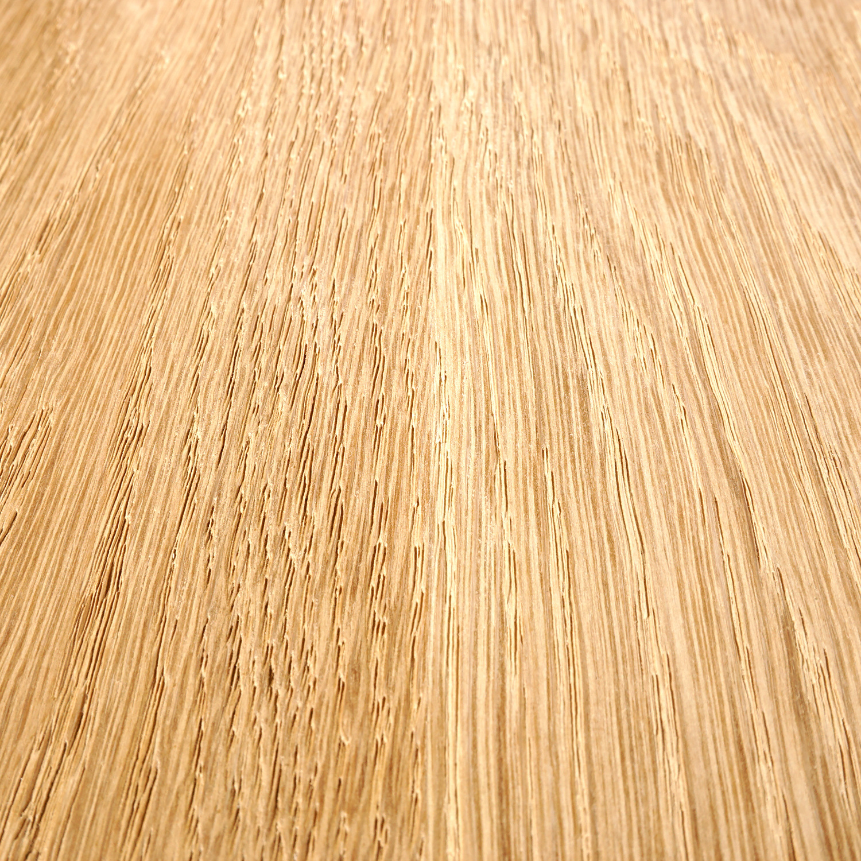Eiken wandplank zwevend - BOOMSTAM RAND / WAANKANT LOOK - op maat - 4 cm dik (1-laag) - foutvrij - voorgeboord inclusief (blinde) bevestigingsbeugels - verlijmd Europees foutvrij eikenhout geborsteld - kd 8-12% - 15-27x50-300 cm