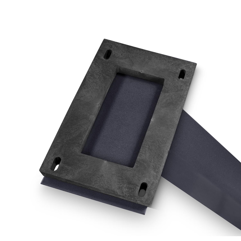 Adapters - 4 stuks -adapters voor stalen tafelpoten / tafelonderstel - in combinatie met een rondom opgedikt tafelblad (2x2,5 cm)