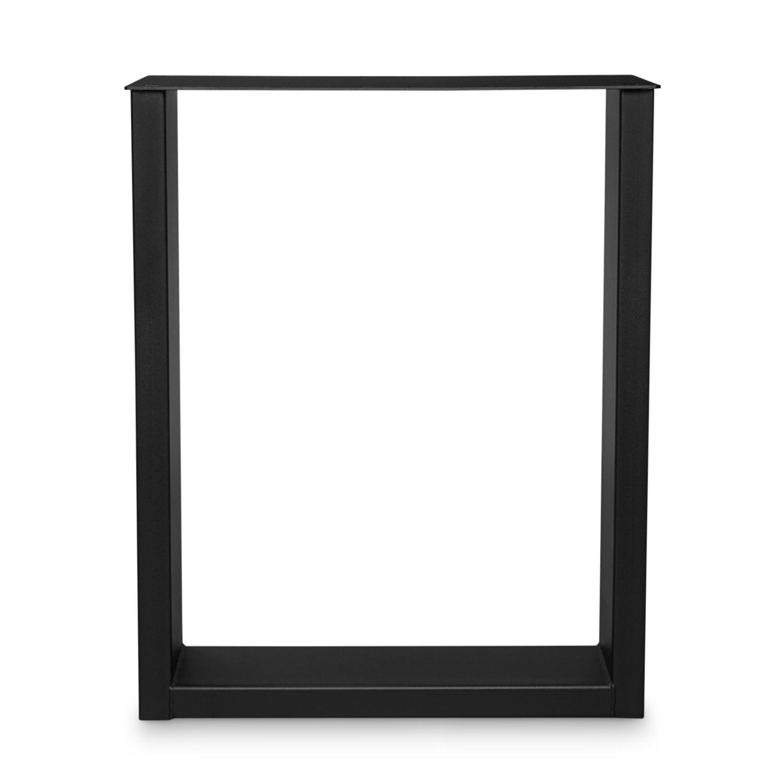 Stalen U-poten elegant (SET) - smal / bureau - 4x10x0,3cm - 60 cm breed - 72 cm hoog - U-poot GEPOEDERCOAT zwart