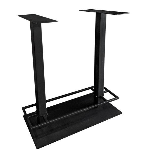 Gietijzeren bartafel onderstel DUO vierkant zwart - 8x8cm - 108 cm hoog - 45x98 cm (voet)plaatafmeting - Gecoat