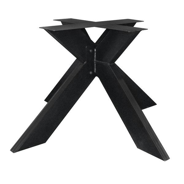 Stalen onderstel Dubbele X ELEGANT (3D) - 3-DELIG - 5x15cm - 130x130 cm - 72 cm hoog - GECOAT