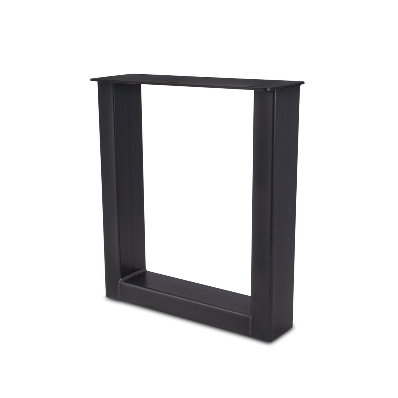 Stalen U-poten salontafel elegant (SET) 4x10 cm - 56 cm breed - 41 cm hoog - U-salontafel / bijzettafel poten - GEPOEDERCOAT zwart