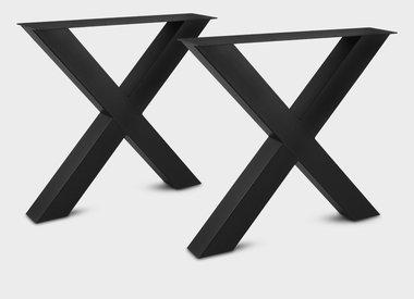 Stalen salontafel poten