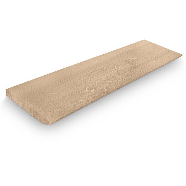 Eiken wandplank zwevend - VERJONGD- op maat - 4 cm dik (1-laag) - foutvrij eikenhout