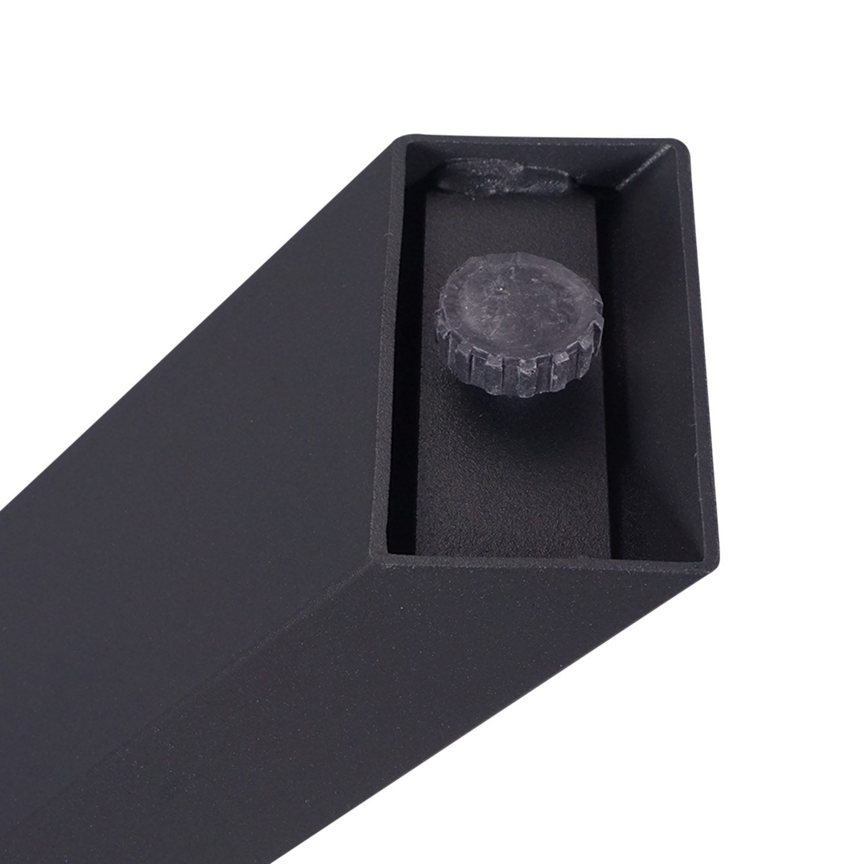 Stalen A-tafelpoten ELEGANT (SET) 4x10 cm - 78 cm breed - 72 cm hoog - A-poot GEPOEDERCOAT zwart - antraciet - wit