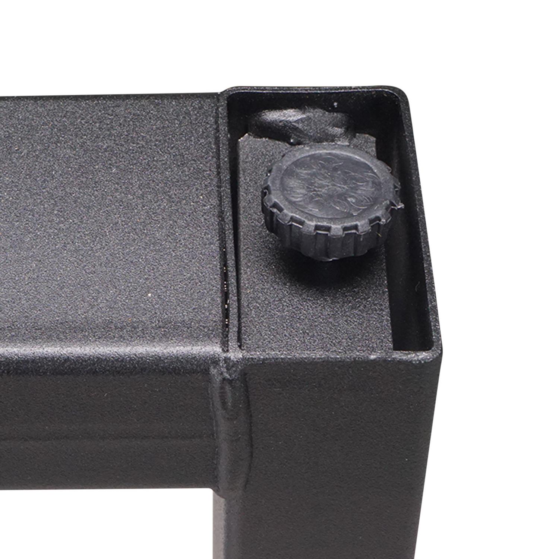 Stalen U-poten elegant (SET) - smal / bureau - 4x10 cm - 60 cm breed - 72 cm hoog - U-poot GEPOEDERCOAT zwart