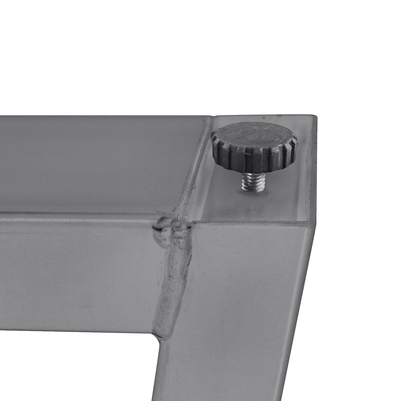 RVS Trapeze tafelpoten ELEGANT (SET) 4x10 cm - 78-94 cm breed - 72 cm hoog - Trapezium poot - Geborsteld INOX 304