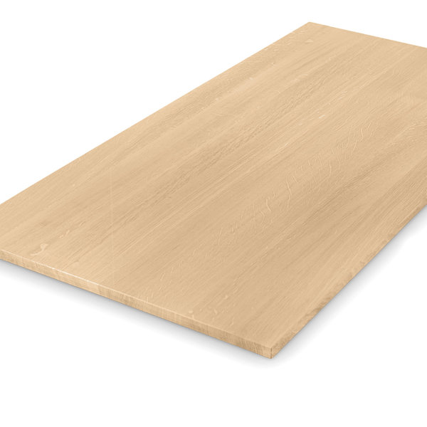 Eiken tafelblad op maat - 2 cm dik (1-laag) - foutvrij eikenhout
