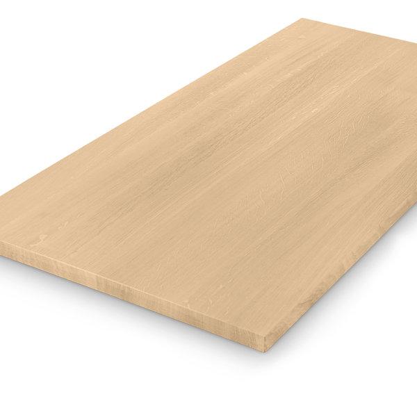 Eiken tafelblad op maat - 4 cm dik (1-laag) - foutvrij eikenhout - GEBORSTELD