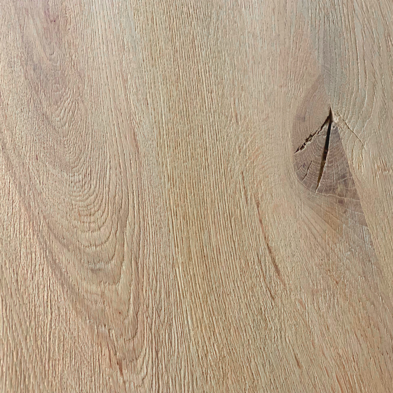 Eiken boomstam(rand) tafelblad - 4 cm dik (1-laag) - diverse afmetingen - extra rustiek Europees eikenhout met schorsrand / waankant - verlijmd kd 10-12%