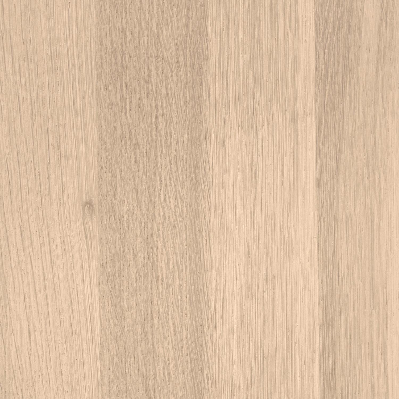 Eiken wandplank zwevend - VERJONGDE RAND - op maat - 3 cm dik (1-laag) - foutvrij - voorgeboord inclusief (blinde) bevestigingsbeugels - verlijmd Europees eikenhout foutvrij - kd 8-12% - 15-27x50-300 cm