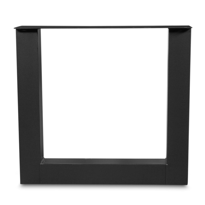 Stalen U-tafelpoten (SET) 10x10 cm - 78 cm breed - 72 cm hoog - U-poot GEPOEDERCOAT zwart - antraciet - wit