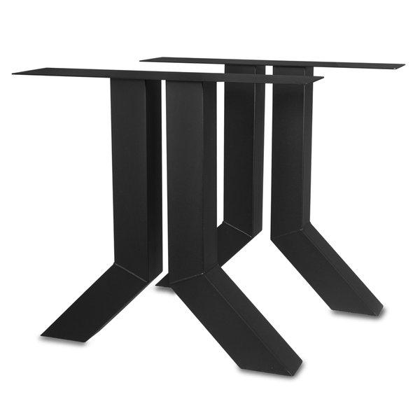 Stalen Y-tafelpoten (SET) 10x10cm - 72 cm breed - 72 cm hoog - GECOAT