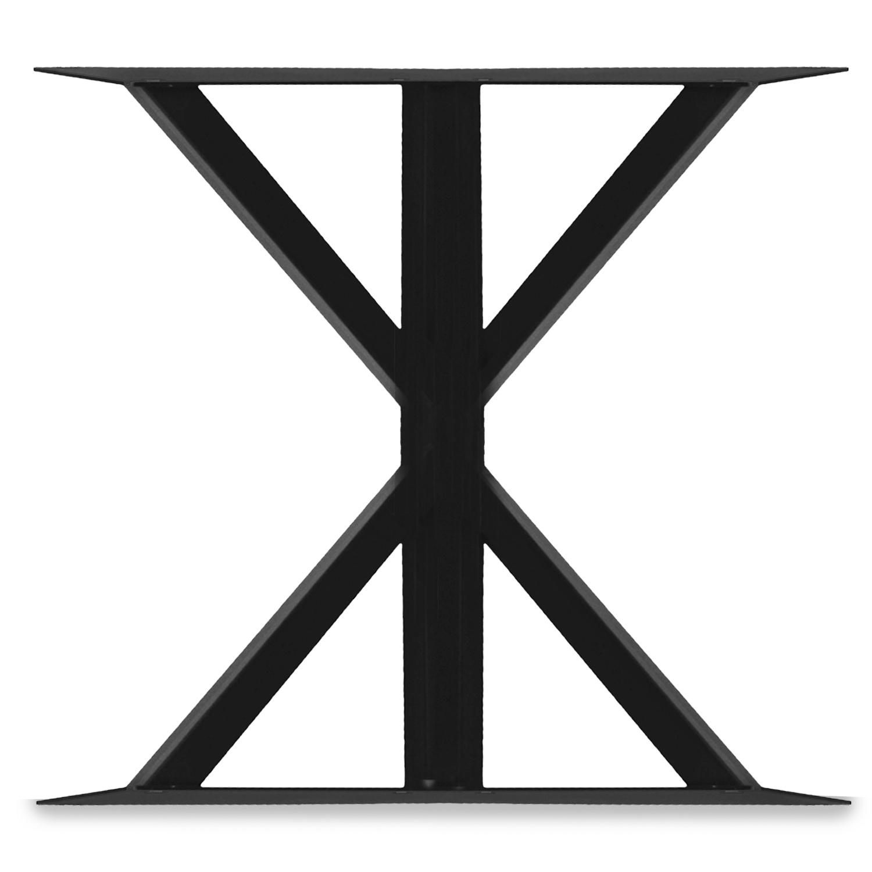 Stalen tafelpoten Laura ELEGANT (SET) - 78 cm breed - 72 cm hoog - GEPOEDERCOAT  Zwart