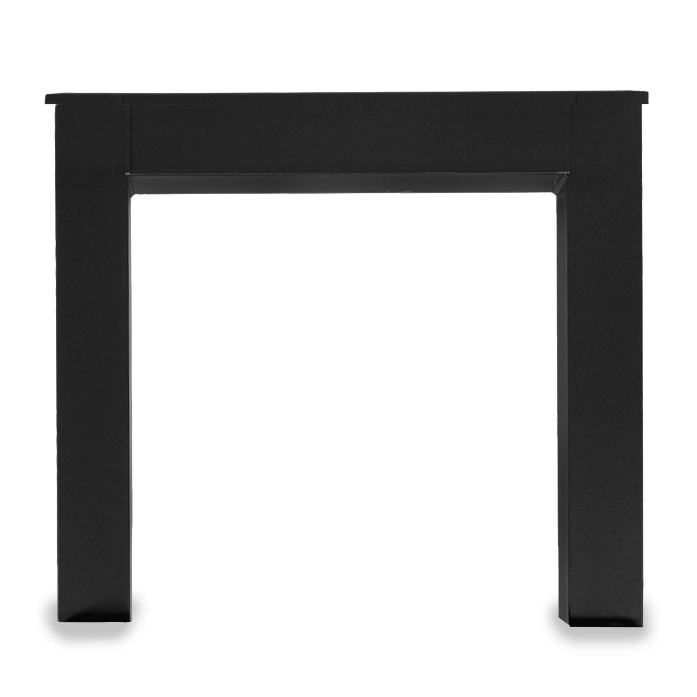 Stalen N-tafelpoten (SET) 10x10 cm - 77 cm breed - 72 cm hoog - N-poot GEPOEDERCOAT Zwart
