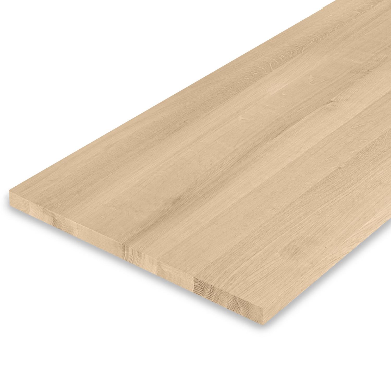 Eiken blad / paneel op maat - 2,5 cm dik (1-laag) - Foutvrij Europees eikenhout - verlijmd kd 8-12% - 15-120x20-300 cm