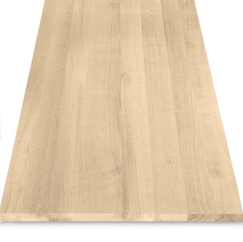 Eiken blad / paneel op maat - 2 cm dik (1-laag) - Foutvrij Europees eikenhout - verlijmd kd 8-12% - 15-120x20-350 cm