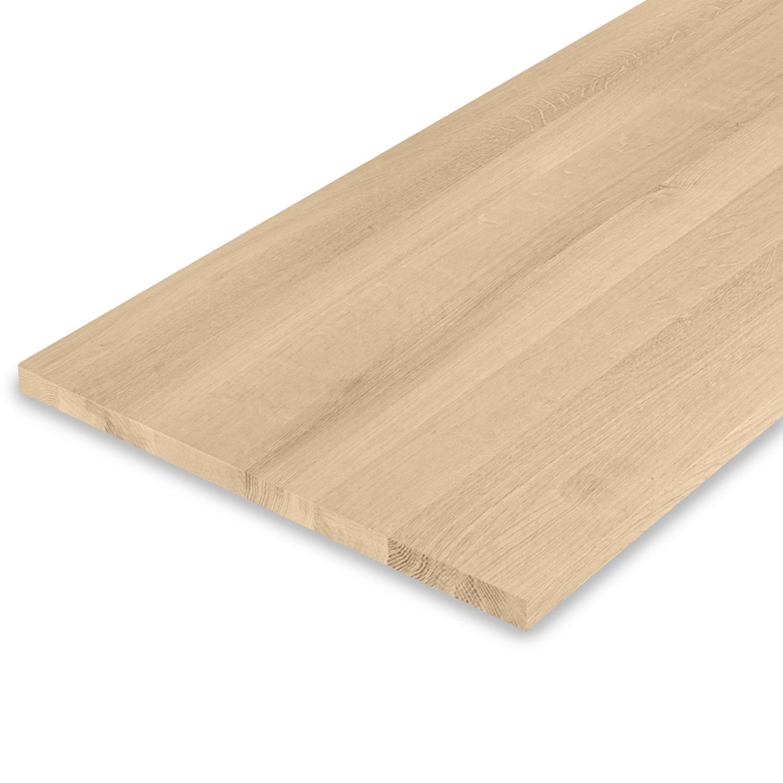 Eiken blad / paneel op maat - 2 cm dik (1-laag) - Foutvrij Europees eikenhout GEBORSTELD - verlijmd kd 8-12% - 15-120x20-350 cm