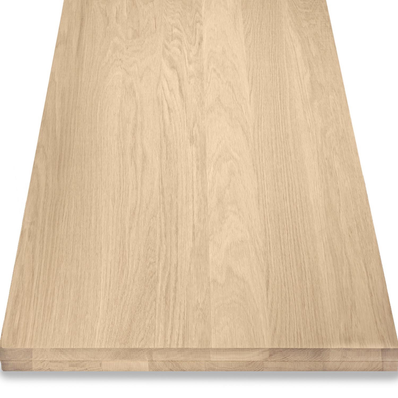Eiken blad / paneel op maat - 5 cm dik (2-laags) - Foutvrij Europees eikenhout - verlijmd kd 8-12% - 15-120x20-300 cm