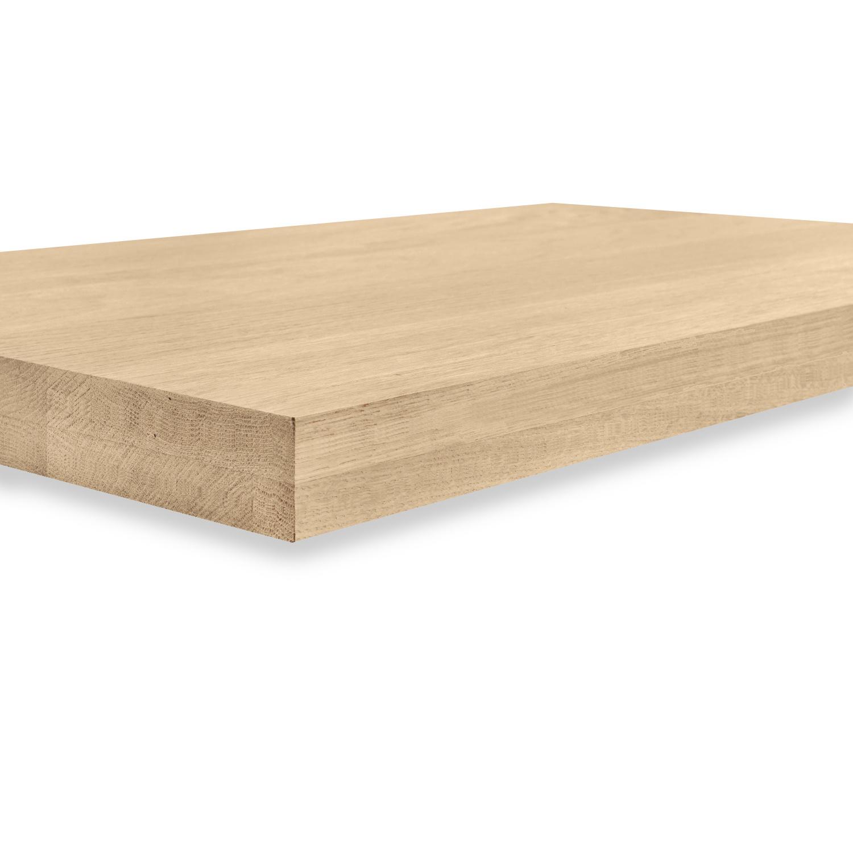 Eiken blad / paneel op maat - 6 cm dik (2-laags) - Foutvrij Europees eikenhout GEBORSTELD - verlijmd kd 8-12% - 15-120x20-300 cm