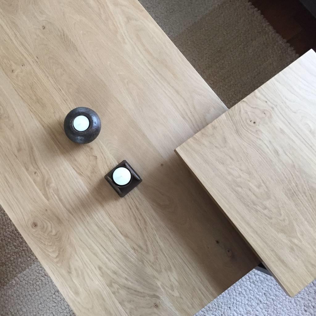 Eiken blad / paneel op maat - 6 cm dik (2-laags) - rustiek Europees eikenhout - verlijmd kd 8-12% - 15-120x20-300 cm