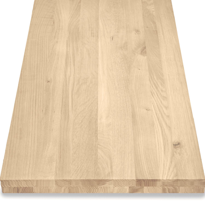 Eiken blad / paneel op maat - 6 cm dik (2-laags) - rustiek Europees eikenhout GEBORSTELD - verlijmd kd 8-12% - 15-120x20-300 cm