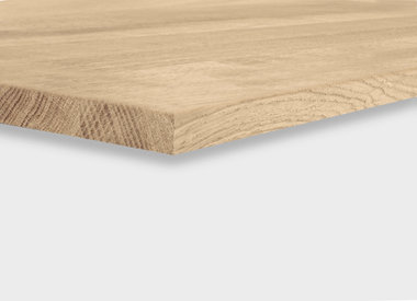 Eiken tafelblad 2 cm dik (1 laag)