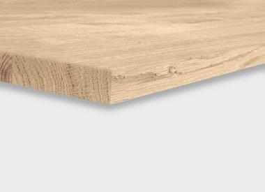 Eiken tafelblad 2,5 cm dik (1-laag)
