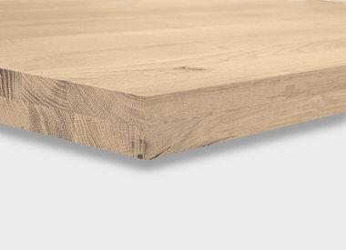 Eiken tafelblad 5 cm dik (2-laags)