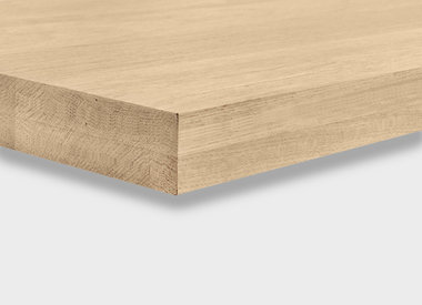 Eiken tafelblad 6 cm (2-laags)