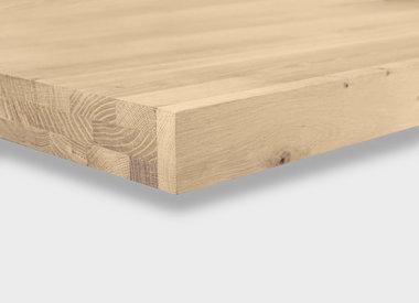 Eiken tafelblad 6 cm dik (3-laags HOL)