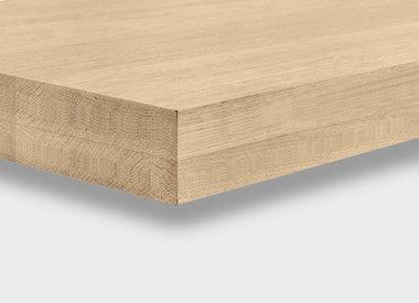 Eiken tafelblad 8 cm dik (2-laags)