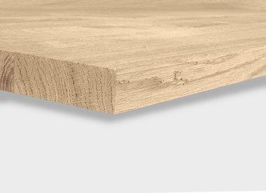 Eiken tafelblad 4,5 cm  dik (1 laag)