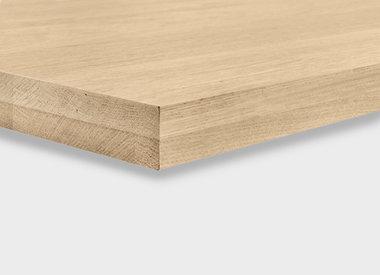 Eiken tafelblad 4 cm dik (2-laags)