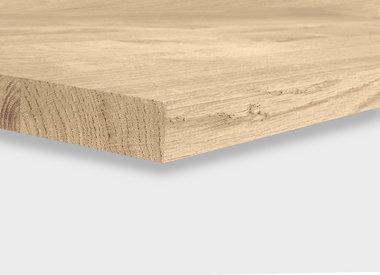 Eiken tafelblad 4 cm dik (1-laag)