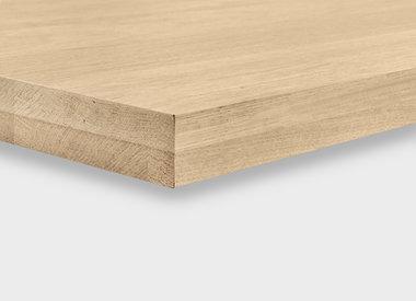 Eiken tafelblad 4,5 cm dik (opgedikt)